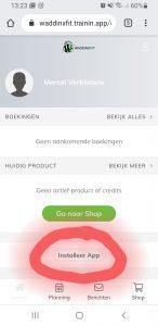 Waddinxfit app installeren